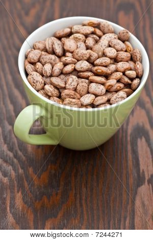 Green Cup With Pinto Beans