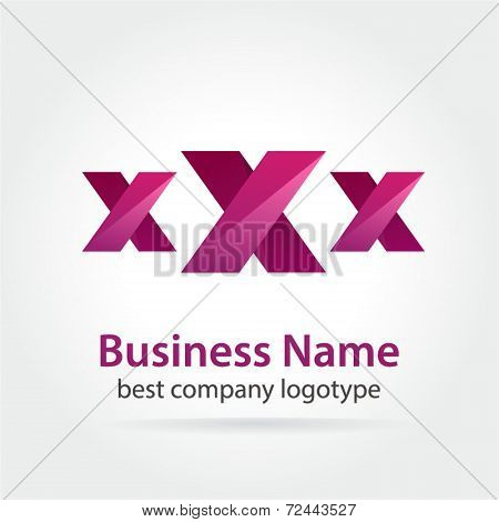 XXX colored vector sexy logotype isolated on blue