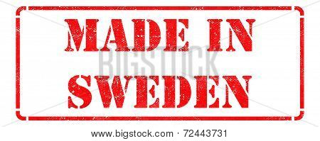 Made in Sweden on Red Stamp.