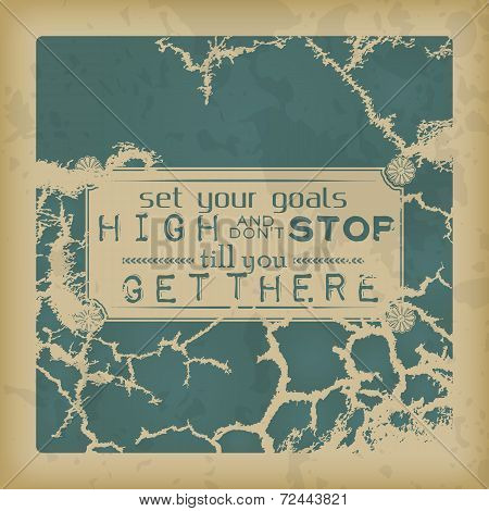 Retro Motivational Background