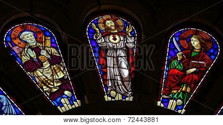 Saint Peter, Jesus Christ And Saint John The Evangelist
