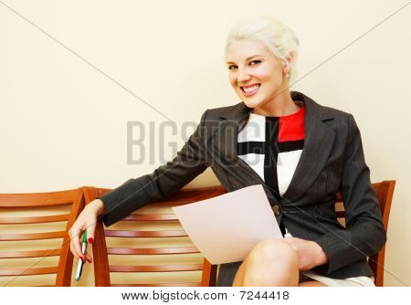 Businesswoman On The Chair
