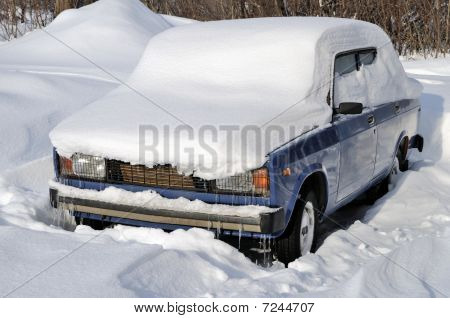 The Car Under A Snow