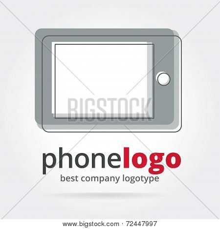 Abstract vector phone logotype isolated on white background
