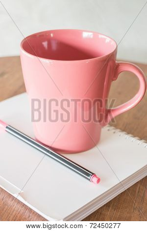 Beautiful Hot Drink Mug And Notepaper