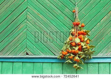Bouquet Of Flowers On The Wall