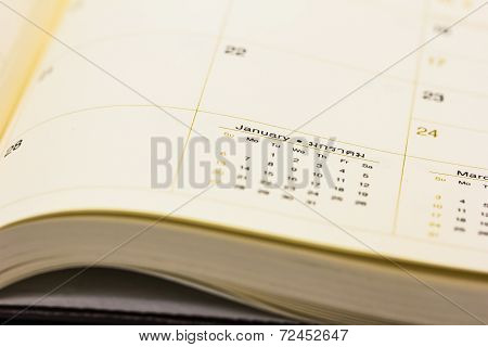 Calendar On The Book