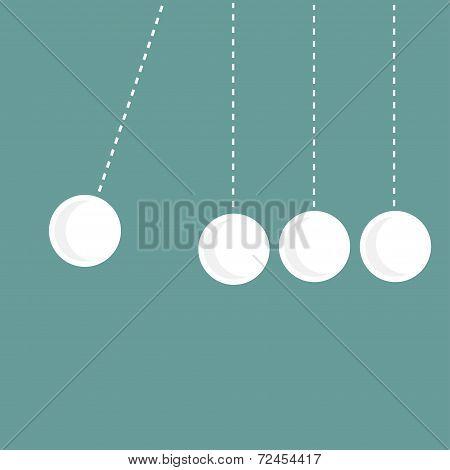 Four Hanging Round Balls. Perpetual Motion.