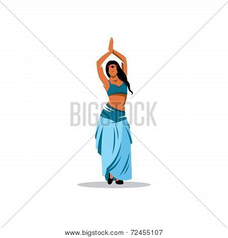 Belly Dance Girl Vector Sign