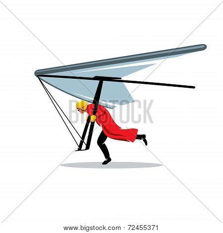 Hang Gliding Vector Sign