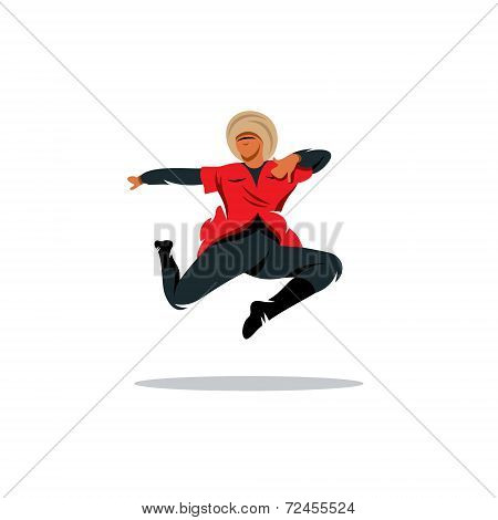 Lezginka Dance Vector Sign