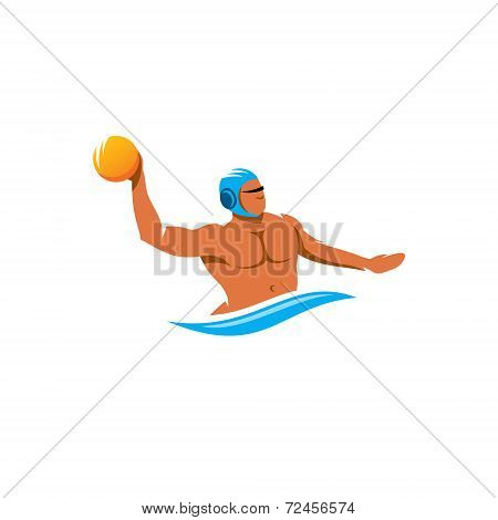 Water Polo Player Vector Sign
