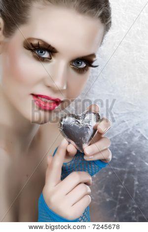 Beautiful Woman With Heart.