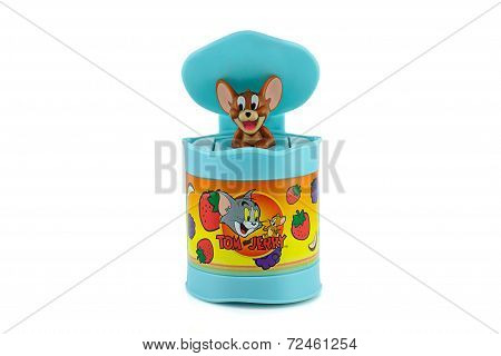 Jerry In A Blue Bin