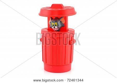 Tom In A Red Bin