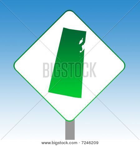 Saskatchewan Map Road Sign