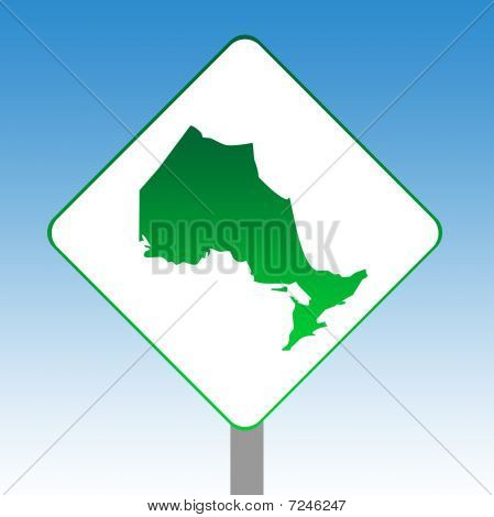 Ontario Map Road Sign