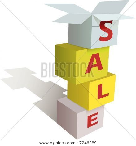 Anything Is On Sale In Stack Of Store Boxes SignAnything Is On Sale In Stack Of Store Boxes Sign.eps