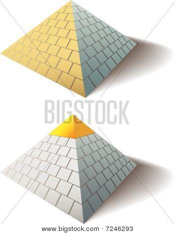 Ägyptische Pyramiden Set ein Gold-Cap-Pyramide