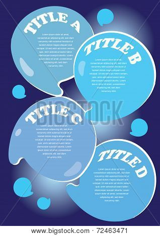 Water Droplets Layout With Area For Text