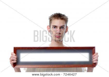 Holding Long Blank Frame