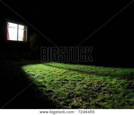 Dark House At Night