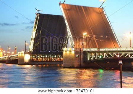 Palace Bridge At Night