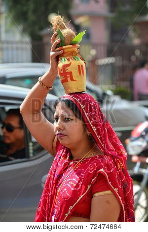 Hindu Woman In Nepal