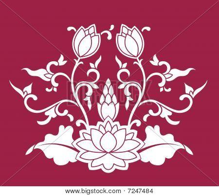 Chinese Lotus Pattern