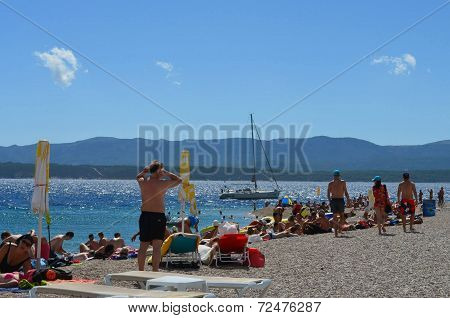 Beach in Bol Croatia
