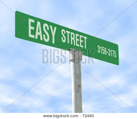 Easy Street Themed Street Sign