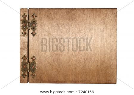 wooden photo album isolated