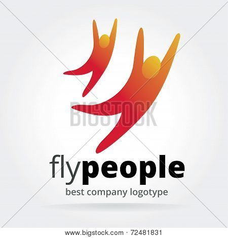 Abstract vector people logotype isolated on white background