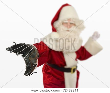 Santa Claus Playing Baseball