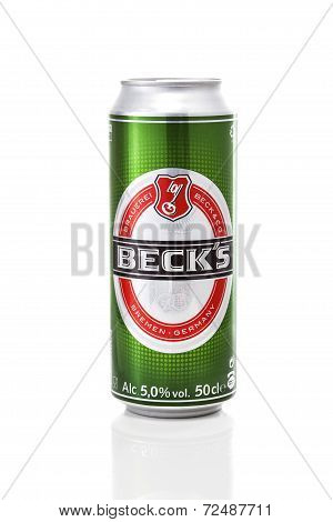 Beck's Beer Can With Ices