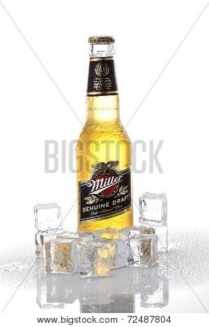 Miller Bottle With Ice