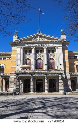 Main Entrance To The Dramatic Theater. Oslo. Norway