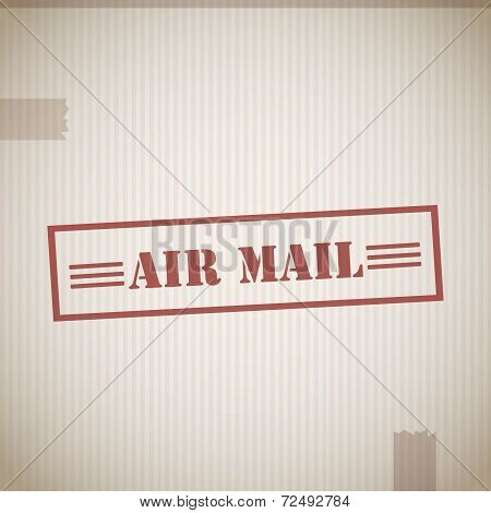 Air mail stamp background