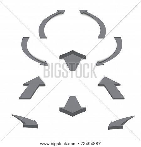 Arrows Icons Set. White Background
