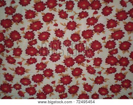 floral motif tablecloth