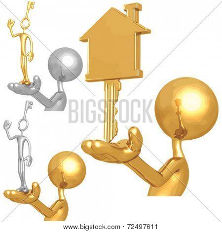 Golden House Key And Key Employee