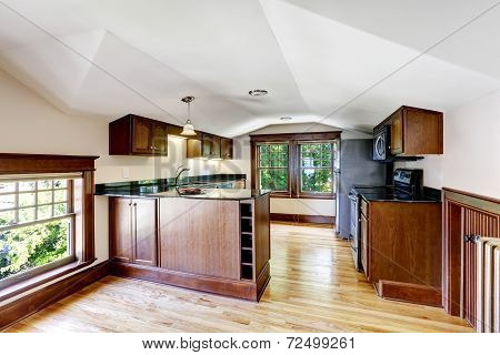 Kitchen Room With Vaulted Ceiling