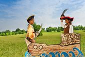 pic of pirate sword  - Two African kids - JPG