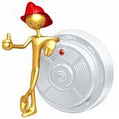 stock photo of smoke detector  - Smoke Detector - JPG