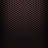 foto of metal grate  - Metallic background with perforated plate  - JPG