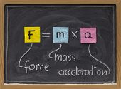 foto of newton  - force applied to a body produces a proportional acceleration  - JPG