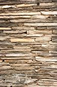 stock photo of ou  - pattern of stone wall decoration ou door - JPG