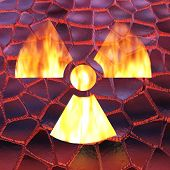 picture of radioactive  - Digital 3D Illustration of a Radioactivity Sign - JPG