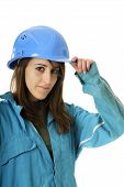 Young female manual worker
