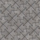 foto of slab  - Grey Granular Mosaic Paving Slab - JPG